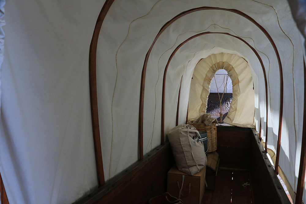 Inside a Covered Wagon