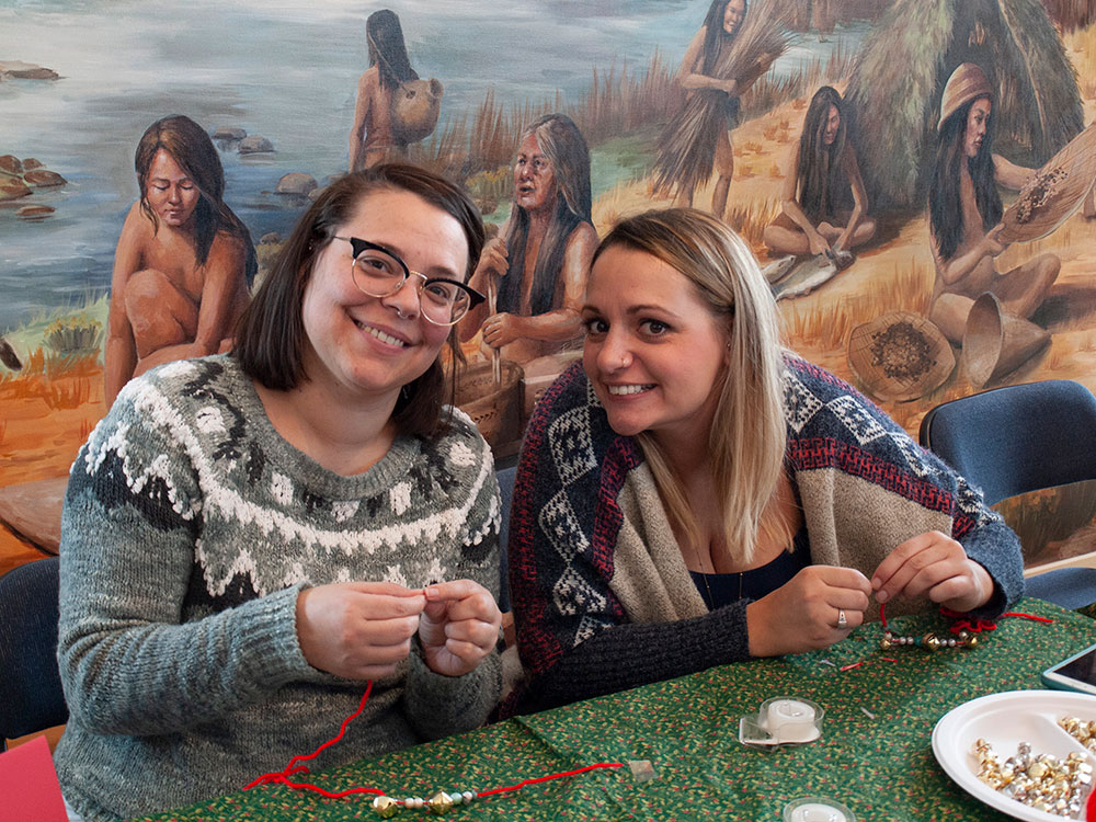Beading at the California Interpretive Center