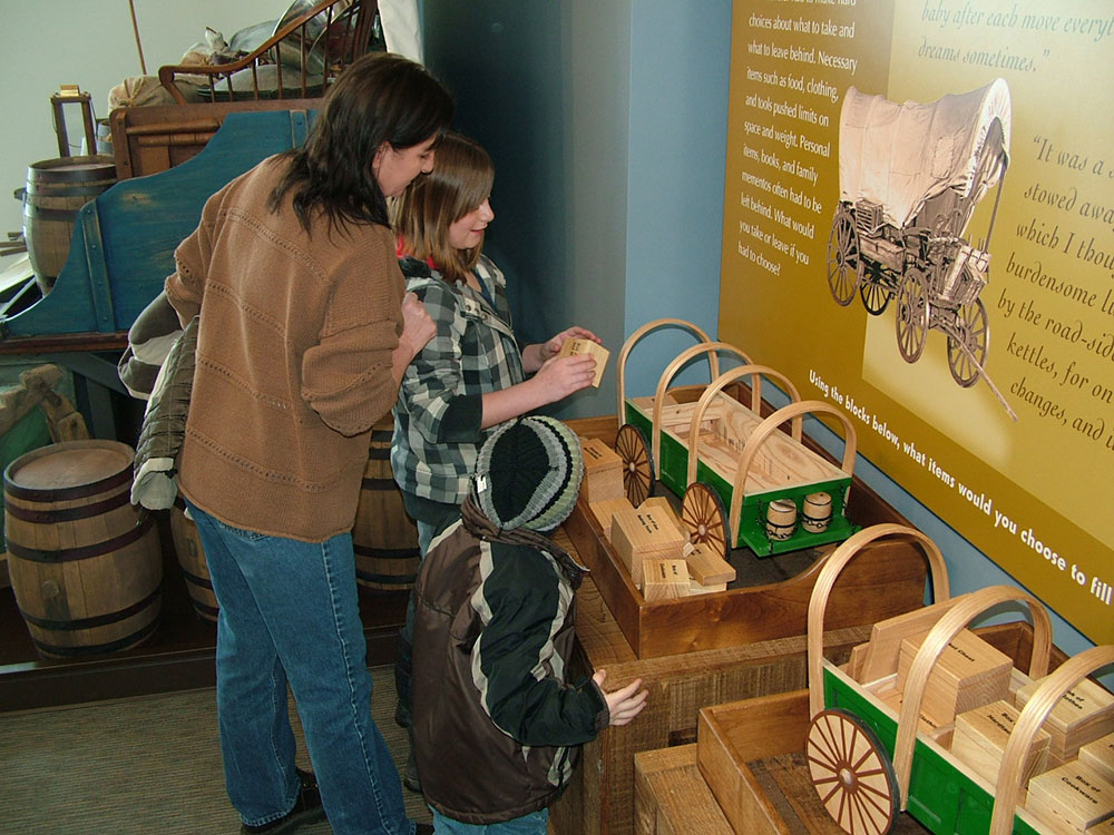Display on How Pioneers Packed their Wagons